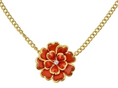 Relic Orange Flower Necklace, Gold