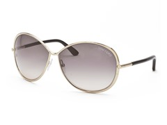 Tom Ford Gold/Gray-Brown Sunglasses