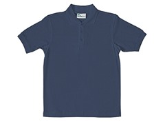 Boys Pique Polo - Dark Navy (Sizes XS-L)