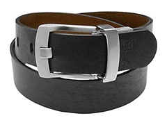 Ashworth Reverse Leather Belt, Blk/Brn