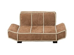 Shearling Bauhaus Pet Bed - Chestnut