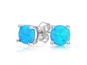 Round Opal Stud Earring