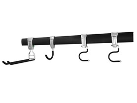 32-Inch Wall Storage Track With Hooks