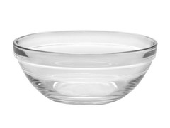Duralex Set of 6-5.5 In Lys Stack Clear Bowl