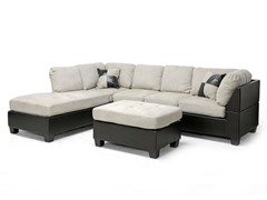Mancini Modern Sectional Sofa and Ottoman Set
