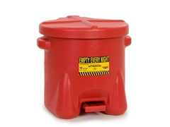 10 Gallon Oily Waste Polyethylene Can, Red