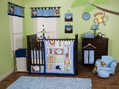 3pc Crib Bedding Set - Jungle 123