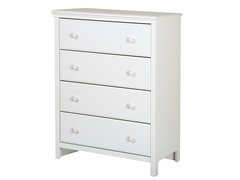 Cotton Candy 4-Drawer Chest, Pure White