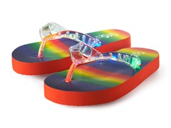 Light Up Flip-Flops - Rainbow (11 & 12)