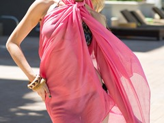 Cotton Sarong Flamingo
