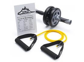 Black Mountain Dual Ab Wheel & Resitance Band