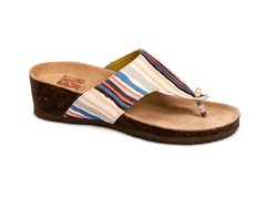 Cara Thong Wedge Sandal, Multi