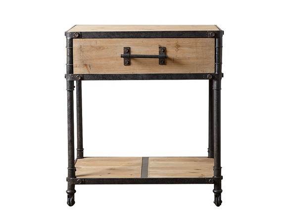 Western Industrial End Table