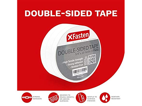 Xfasten Double Sided Tape 3 Pack