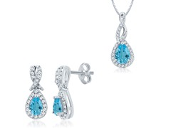 Diamond & Blue Topaz Set