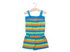 Blue/Green/Orange Knit Romper (18M-24M)