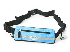 Slim Pocket Race Number Belt - Surf Blue