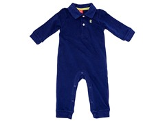 Boys Navy Polo Coverall (3-12M)