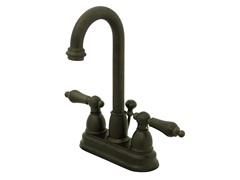 Lavatory Faucet with Pop-up, Bronze