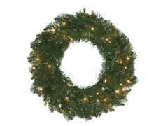 "Allegheny Fir 24"" Wreath Prelit Clear"