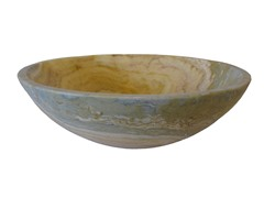 Onyx Stone Vessel Sink, Blue and White
