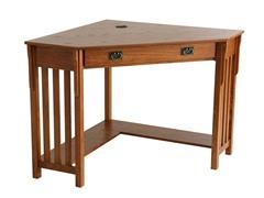 SEI Misson Oak Corner Desk
