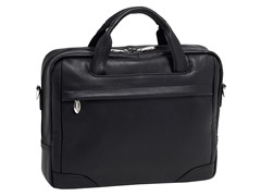 "Bridgeport Leather 17"" Laptop Brief"