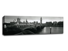 Westminster Bridge at Night BW