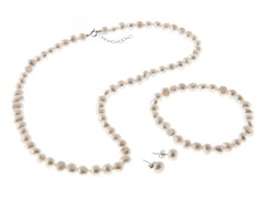 Freshwater White Nugget Pearl Set