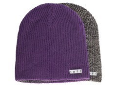 Reversible Beanie, Purple/Black-White