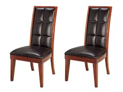 Hudson Side Chairs in Mocha Set of 2
