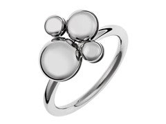 Stainless Steel With Circular Charm Ring