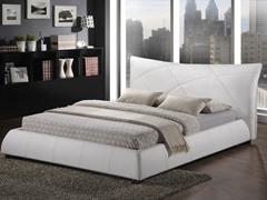 Corie White Platform Bed