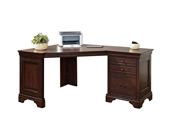 corner desk with three drawers home woot. Black Bedroom Furniture Sets. Home Design Ideas