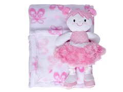 Pink Blanket Set w/ Doll