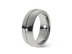 Tungsten High Polished Center Line Ring