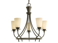 5-Light Chandelier, Forged Bronze