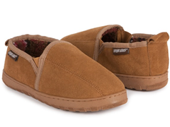 MUK LUKS ® Suede Slip-On Slippers, Tan
