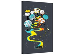 Umbrellas Gallery Wrapped Canvas 2-Sizes