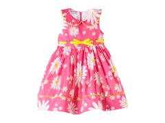 Pink Floral Woven Dress (2T-4T)