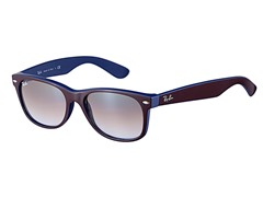 Ray-Ban New Wayfarer, Top Brown on Blue
