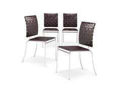 Criss Cross Dining Chair Set of 4