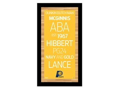 "Indiana Pacers 9.5"" x 19"" Sign"