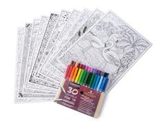 """Nature 10"""" x 14"""" Line Art Bundle - 10 Pack"""