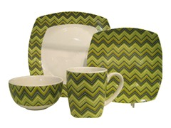 American Atelier ZigZag 16pc Set - Green