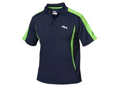 Fila Blocker Polo Shirt - Navy/Green (S)
