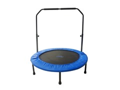 "40"" Mini Foldable Rebounder with Adjustable Handrail"