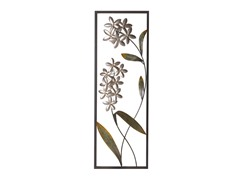 Silver Daisy Frame Metal Panel Wall Decor