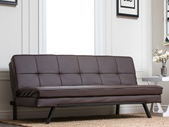 Gellhorn Dark Brown Convertible Sofa
