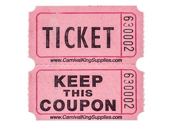 Indiana Ticket Company Raffle Tickets
